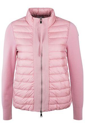Moncler Damen Daunenjacke mit Strickärmeln Rosa rosa
