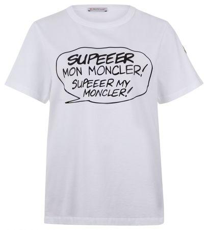 Moncler Damen T-Shirt Weiss grau