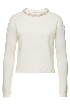 Moncler  Genius 4  Simone Rocha Verzierter Pullover aus Kaschmir braun