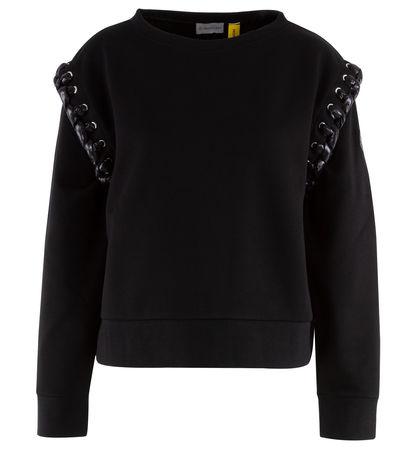 Moncler  Genius - 6  NOIR Sweater aus Baumwolle mit Flechtdetails schwarz