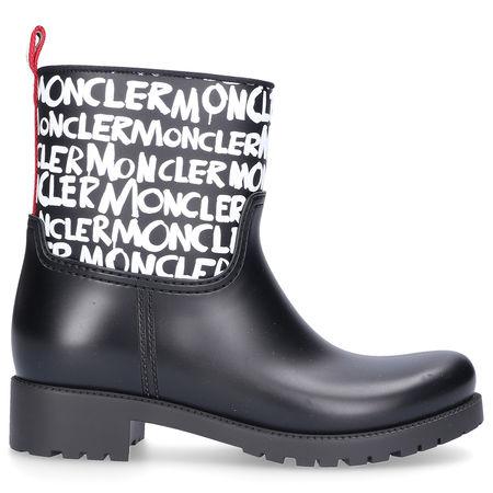 Moncler Gummistiefel GINETTE Logo Print schwarz grau