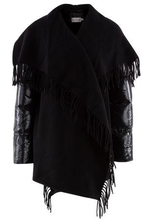 Moncler  - Jacke aus Wolle und Daune schwarz