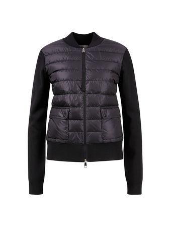 Moncler  - Jacke mit Dauneneinsatz Schwarz schwarz