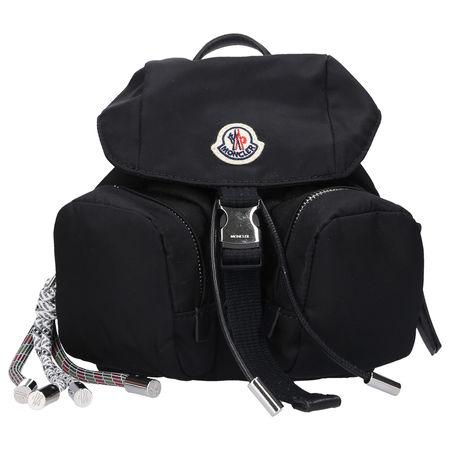 Moncler Rucksack DAUPHINE MINI Nylon logo schwarz