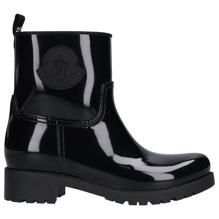 Moncler Stiefel GINETTE Gummi Logo schwarz schwarz