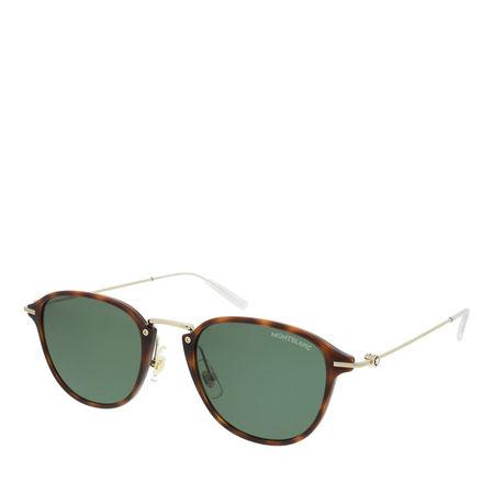 Montblanc  Sonnenbrillen - MB0155S-002 51 Sunglass MAN INJECTION - in cognac - für Damen