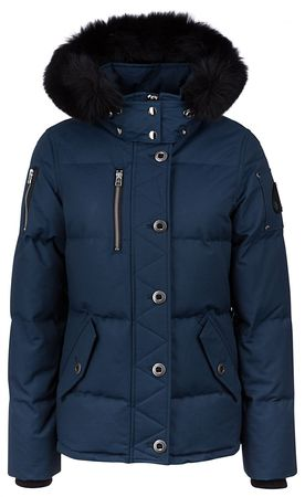 Moose Knuckles Damen Daunenjacke 3Q Jasper Blau grau