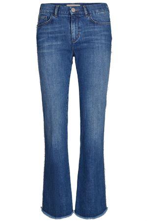 Mos Mosh Damen Jeans Percy Frill Flare Blue Denim blau
