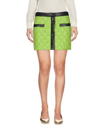 Moschino C&C MOSCHINO CHEAP AND CHIC 38 Damen Hellgrün Minirock Polyester gruen