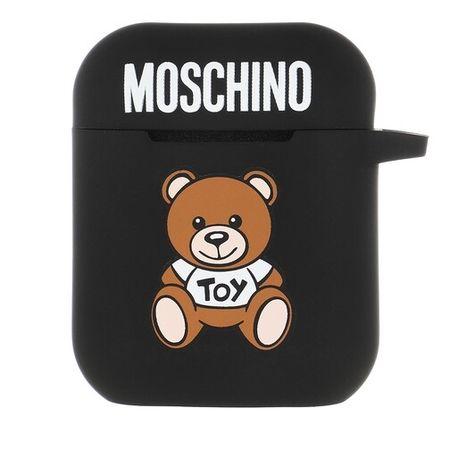 MOSCHINO  Handyhüllen - Airpods Case Silicone Toy - in schwarz - für Damen