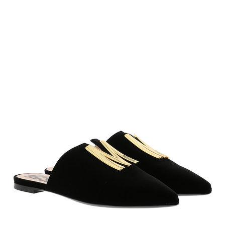 MOSCHINO  Loafers & Ballerinas - Mules Leather - in schwarz - für Damen schwarz