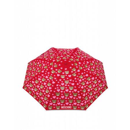 MOSCHINO  Regenschirm Mini Openclose Bear Hearts Damen Gr. Einheitsgröße Rot rot