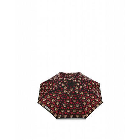 MOSCHINO  Regenschirm Mini Openclose Bear Hearts Damen Gr. Einheitsgröße Schwarz braun