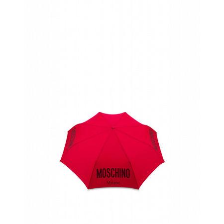 MOSCHINO  Regenschirm Openclose Mit Logo Damen Gr. Einheitsgröße Rot pink