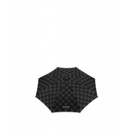 MOSCHINO  Regenschirm Openclose Teddy Bear All Over Damen Gr. Einheitsgröße Schwarz schwarz