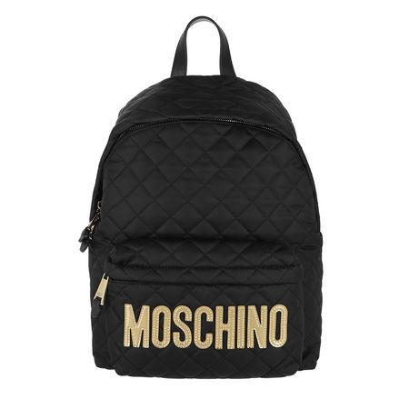 MOSCHINO  Rucksack - Quilted Logo Backpack - in schwarz - für Damen schwarz