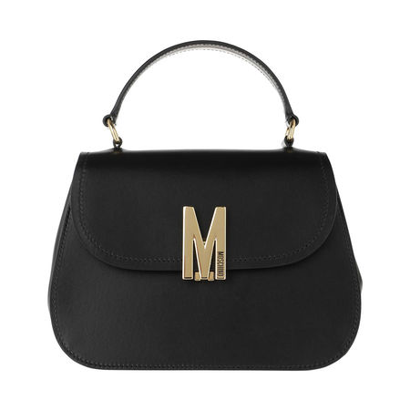 MOSCHINO  Satchel Bag  -  Leather Shoulder Bag Black Fantasy Print  - in schwarz  -  Satchel Bag für Damen schwarz