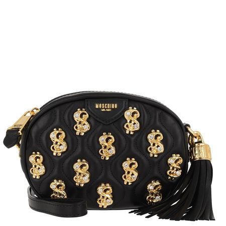 MOSCHINO  Umhängetasche  -  Crossbody Tassel Bag Fantasia Nero  - in schwarz  -  Umhängetasche für Damen schwarz