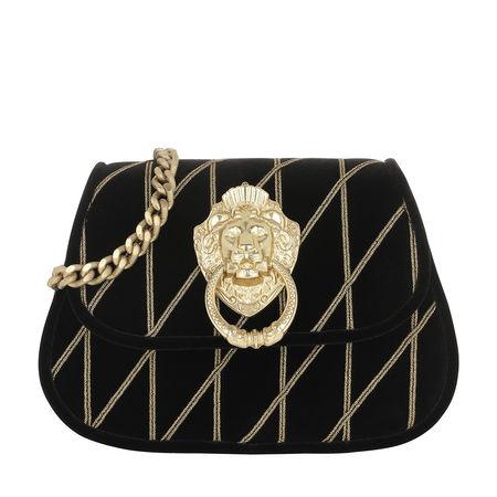 MOSCHINO  Umhängetasche  -  Emblem Chain Crossbody Bag Black  - in schwarz  -  Umhängetasche für Damen schwarz