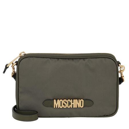 MOSCHINO  Umhängetasche  -  Logo Crossbody Bag Green  - in grün  -  Umhängetasche für Damen grau