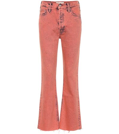 Mother High-Rise Cropped Jeans The Tripper rot