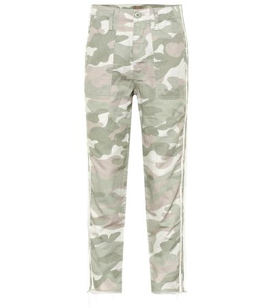 Mother Hose The Shaker Chop Crop Fray grau