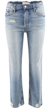 Mother  - Jeans Tomcat aus Baumwolle grau