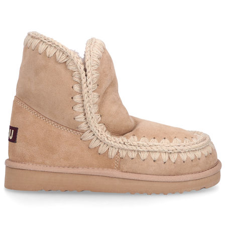 Mou Boots Snowboots ESKIMO 18 Veloursleder Logo sand braun