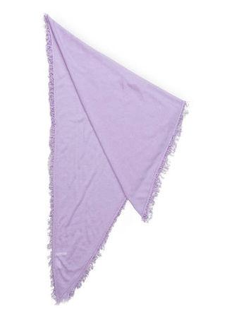 Mrs & HUGS  Cashmere-Dreieckstuch violett lila
