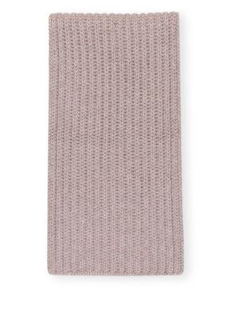Mrs & HUGS  Cashmere-Schal beige braun