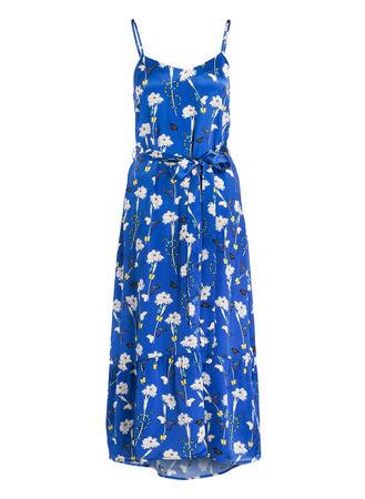 Mrs & HUGS  Seidenkleid blau blau