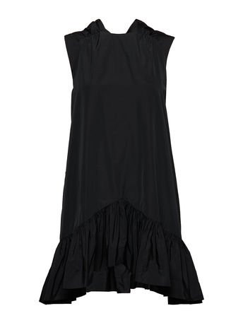 MSGM Dress Kurzes Kleid Schwarz  schwarz