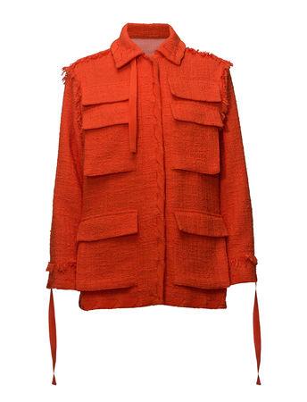 MSGM Jacket Strickpullover Bouclé Orange
