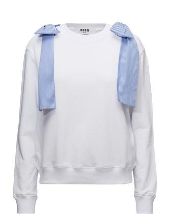 MSGM Sweatshirt Langärmliger Pullover Blau  grau