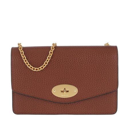 Mulberry  Umhängetasche  -  Darley Small Shoulder Bag Grain Leather Oak  - in braun  -  Umhängetasche für Damen braun