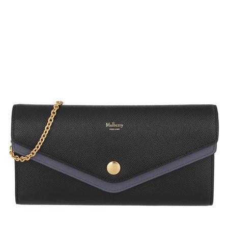 Mulberry  Umhängetasche  -  Wallet On Chain Leather Black  - in schwarz  -  Umhängetasche für Damen grau