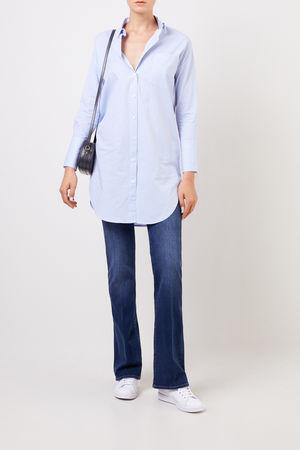 Steffen Schraut  - Lange Bluse mit Streifenmuster Blau/Multi 100% Baumwolle