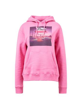Paco Rabanne  - Bedruckter Hoodie aus Baumwollle Pink/Multi 100% Baumwolle Das Model ist 180 cm und trägt Größe L Maße der Größe L: - Gesamtlänge: ca. 63,5 cm - Brustweite: ca. 53 cm