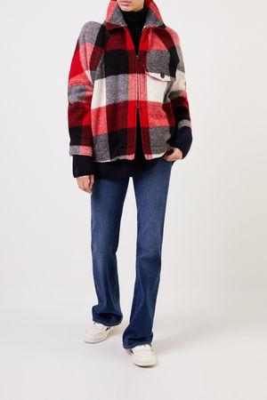 Woolrich  - Woll-Jacke 'Buffalo' mit Karomuster Rot/Multi 65% Wolle - 20% Polyamid - 10% Mohair - 5% Acryk Futter: - 100% Baumwolle