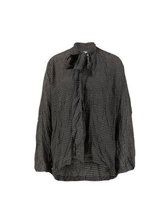 Balenciaga  - Seiden-Bluse Grau/Multi