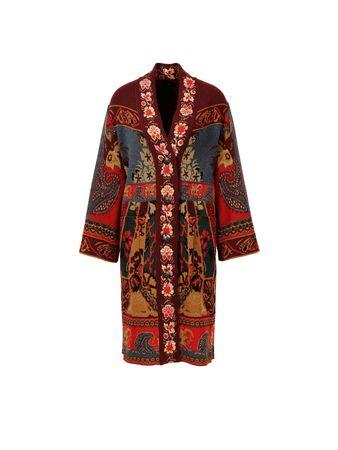 Etro  - Jacquard-Cardigan mit Muster Rot/Multi braun