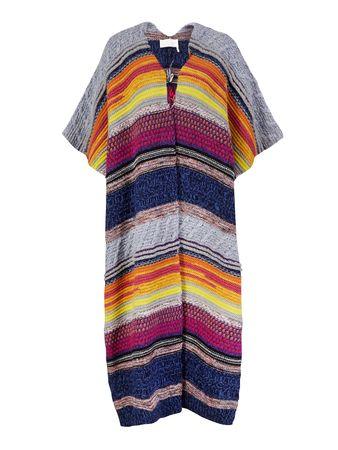 Ganni  - Seiden-Bluse mit Print Blau/Multi