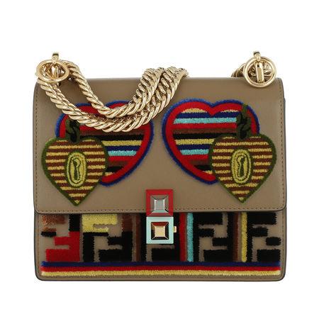 Fendi  Tasche  -  Kan I Logo Bag Leather Tobacco/Multi  - in bunt  -  Tasche für Damen braun