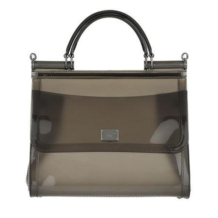 Dolce&Gabbana  Tote  -  Sicily Tote Bag PVC Fumo/Multi  - in schwarz  -  Tote für Damen braun