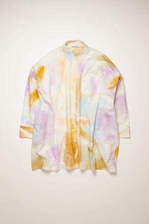 Acne Studios  FN-WN-BLOU000434 Purple/multi Oversized spray-paint shirt braun