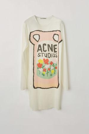 Acne Studios  FN-WN-DRES000266 Pink/Multi T-Shirt-Kleid braun