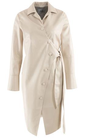 Nanushka  - Kleid Ailsa aus veganem Leder braun