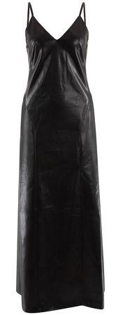 Nanushka  - Kleid Anira aus veganem Leder schwarz