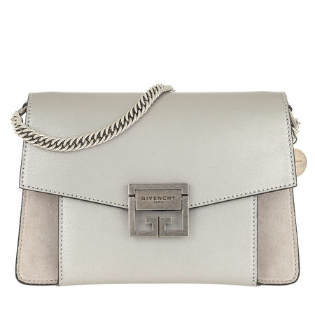 Givenchy  Satchel Bag  -  Metallized Small GV3 Bag Leather Silver/Natural  - in silber  -  Satchel Bag für Damen braun