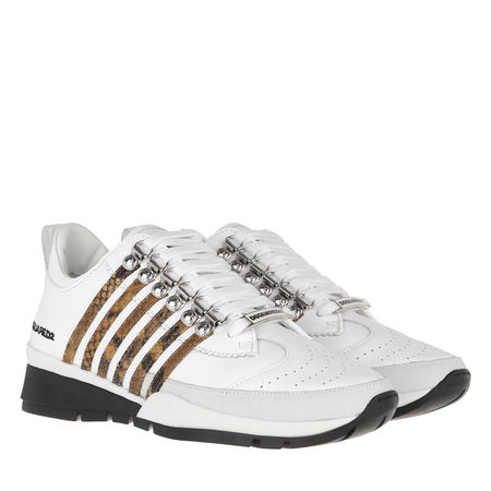 Dsquared2  Sneakers  -  Sneakers Leather White/Natural  - in weiß  -  Sneakers für Damen grau